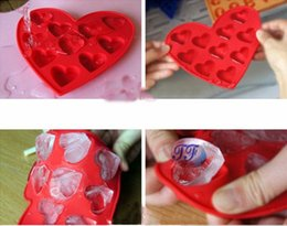 Wholesale Cute Ice Cube - New Arrival Cute Heart Silicone Ice Cube Tray Ice Mould Box Best Gifts CPAM Free shipping