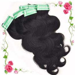Wholesale Black Hair Pieces - 6 Piece lot Brazilian Body Wave Hair Weave 100% Virgin Human Hair Bundles 10-28 Inch Unprocessed Human Hair Weft