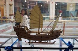 Wholesale Wooden Boat Model Kit - Wholesale-Wooden china sail boat Fujian ships Wooden barque model kit