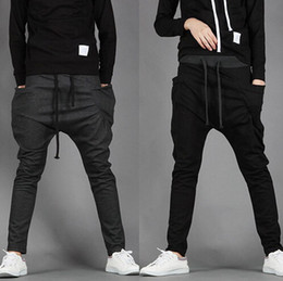 Wholesale Xxl Sweatpants - New 2017 Mens Joggers Fashion Harem Pants Trousers Hip Hop Slim Fit Sweatpants Men for Jogging Dance 8 Colors sport pants M~XXL