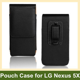 Wholesale Vertical Flip Wallet Case - Wholesale New Belt Clip PU Leather Vertical Flip Cover Pouch Case for LG Nexus 5X H791 H790 Free Shipping
