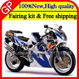 Wholesale 1995 Suzuki Fairings - Motorcycle Fairing For SUZUKI RGV250 VJ22 90 91 92 Blue white 93 94 95 96 38GP6 RGV-250 VJ 22 RGV 250 93 1990 1991 1992 1993 1994 1995 1996