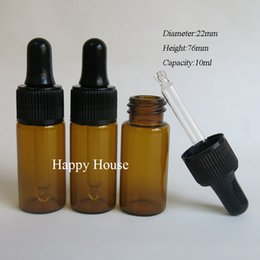 Wholesale Brown Glass Bottles Droppers - Free Shipping - 24 x 10ml Mini Amber Glass Dropper Bottle, 10cc Brown PIpette Dropper Vial,Sample Container,