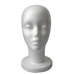 Wholesale Hair Manikin Stand - Free Shipping Lightweight Styrofoam Foam Mannequin Manikin Head Stand Model Display Wig hair Glasses Hat