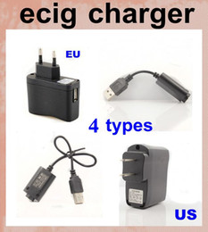 Wholesale Ego Wall Adapters - USB Wall Charger US EU Plug AC Power EGO usb charger Adapter ego wall charger long usb charger short cable charging for ego-t evod FJH02