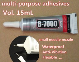 Wholesale Glue For Crystal Nails - Wholesale-15ml B7000 Needle Nozzle Adhesive Glue for mobile frame touch ,clear gel multi-purpose for jewelry crystals rhinestones,nail.