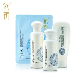Wholesale Yiqi Facial Creams - Wholesale-YiQi Facial Care Cream 4Pcs Sets, Hydrating whitening cream & Anti-wrinkle moisturize Deep-Moisture Cleansing Lotion skin care