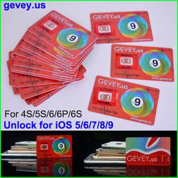 Wholesale Gevey Iphone 4s Cdma - Newest E-paper Gevey Unlock Sim Card Perfect unlock ios9 8 7.X for iphone 6S plus 6 5s 6plus 4s AT&T T-mobile Sprint Rsim WCDMA CDMA 4G 3G