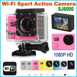 Wholesale Outdoor Car Camera - 1080P Full HD 12MP H.264 Outdoor Action Sport Camera with Wi-Fi SJ6000 Waterproof Camera Sports Helmet Camera digital Video Camera Car DVR