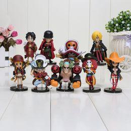 Wholesale Cute Mini Anime Figures Set - Anime One Piece Action Figures Cute One Piece Film Z Mini Figure Toys Dolls 9pcs set