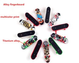 Wholesale Wholesale Skateboard Decks - Mini Finger Skateboard Fingerboard For Tech Deck Alloy Stents Scrub Finger Scooter Skate Boarding Classic Game Boys Toys Free Shipping