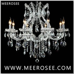 Wholesale Led Maria Theresa Chandelier - Hot selling Maria Theresa Clear White Crystal Chandelier Lamp Luster Cristal Pendelleuchte Light Fixture top quality 8 Lights