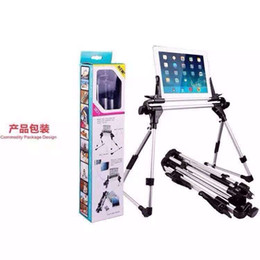 Wholesale Floor Stand Holder Tablet - Aluminum iPad mini Air Tablet PC Folding Lazy Stand Holder Mount For Galaxy Tab Sofa Bed Floor Outdoor iPhone Portable Rotating