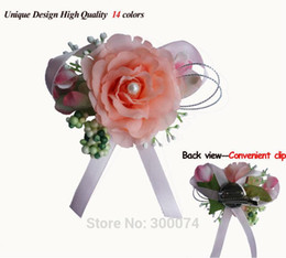 Wholesale Groomsmen Corsage - Boutonniere Men, Silk Rose For Wedding, Party or Prom, Decorative Flowers & Wreaths, Groomsman, Bridegroom or VIP Flower Corsage