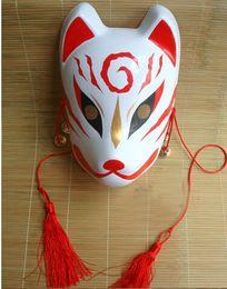 Wholesale Pvc Mask Animal - Hand- painted Fox Mask Endulge Japanese PVC Mask Full Face Halloween Masquerade Party Masks Free Shipping