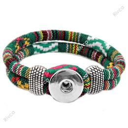Wholesale Easy Button Wholesale - Wholesale-P00016 newest Easy rivca Button bracelet cord size 6mm for 18mm snap button