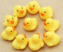Wholesale Cheap Bath Ducks - Cheap Mini Yellow Rubber Ducks Baby Bath Water Toys for sale Kids Bath PVC Duck with sound Floating Duch wholesale