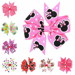 Wholesale Leopard Baby Hair Bow - Wholesale- New candy Color Solid Dot Leopard Print Bow Hairpin Hair Clips for Baby Girls Kids Hair Accessories 1pc BB073