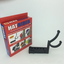 Wholesale Outdoor Clothing Hats - Hatrider Plastic Hook Black Wear Resistant Car Hat Hanger Simple Practical Durable Pothook For Outdoor Hot Sale 11cs B