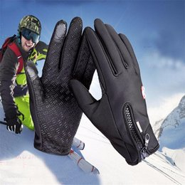 Wholesale Viscose Twill - Touch Screen Windproof Outdoor Sport Gloves For Men Women army guantes tacticos luva winter windstopper waterproof gloves