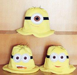 Wholesale Despicable 5pcs - Despicable Me Hat Minion Plush Hats Jorge Dave Stewart Cosplay Cap Despicable Plush Hat Christmas Hallowmas Gift 5pcs lot