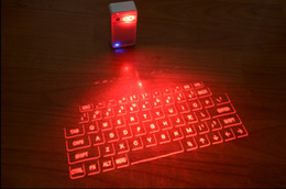 Wholesale Bluetooth Standards - Freeshipping magic cube virtual laser projection keyboard with mouse via bluetooth for ltablet pc andrioid IOS device smartphone