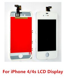 Wholesale Apple Digitizer 4s - 15pcs Hongkongpost free shipping LCD Display With Touch Screen Digitizer Assembly Repair Replacement Fr iPhone 4 4s GSM CDMA