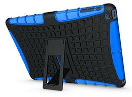 Wholesale Dual Layer Drop - 1pcs lot dual layer heavy duty rugged robot hybrid kickstand protective Case for ipad 2 3 4 5 air tablet cover skin shockproof