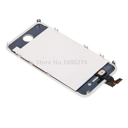 Wholesale Iphone 4s Glass Frame - Wholesale-White High Quality New LCD Screen Display with Touch Glass Digitizer and Frame Assembly for iPhone 4S