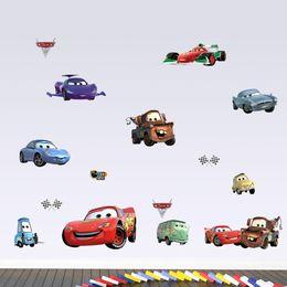 Wholesale Adhesive Cars - Cartoon Cars Wall Sticker for boys Room Nursery DIY Removable Home Art Decor