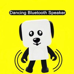Wholesale electronic toy robots - Portable Wireless Speaker Cute Bluetooth Speaker Dance Robot Dog Bluetooth Wireless Smart Dance Robot Dog Electronic Toys CCA8368 20pcs