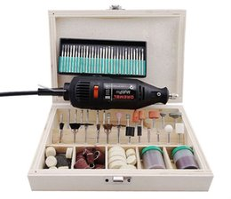 Wholesale Drill Flexible - EU Plug!! Dremel Hardware Variable Speed Rotary Tool Electric Tools,Mini Drill, with 130pcs Accessories+Flexible tube Free ship