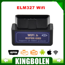 Canada Outil d'analyse de gros-New Blue Mini WiFi ELM327 OBD2 Car Auto Diagnostic Mini ELM 327 Wifi Pour iPhone Pour iPad Pour iPod / Android mini ipad new wifi on sale Offre