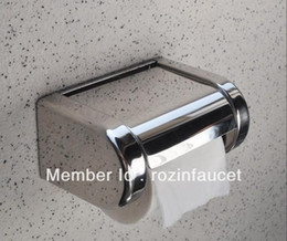 Wholesale Toliet Paper Holder Cover - Chrome Stainless Steel Bathroom Toliet Paper Holder Roll Tissue Box with Cover 1001#01