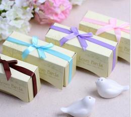 Wholesale Bird Pepper - Ceramic Pepper Shakers Salt shaker Wedding Favor Christmas gift Lover birds dream nest