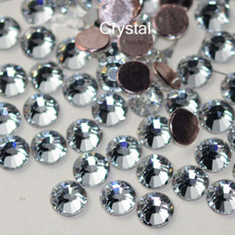 Wholesale Rhinestone Strass - Wholesale-2058HF 1440pcs lot Flatback Strass Glue Base SS20 Hotfix Rhinestones Clear Crystal Hot Fix rhinestone Strass For Clothes Shoes
