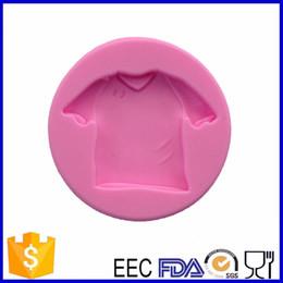 Wholesale T Shirt Decorating - Wholesale- cake silicone mold , t-shirt design cake fondant mold for cake decorating tools