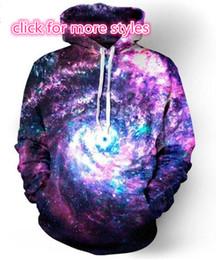 Wholesale Plus Size Galaxy Sweater - New Fashion Couples Men Women Unisex Space Galaxy 3D Print Hoodies Sweater Sweatshirt Jackets Pullover Top S-5XL TT51