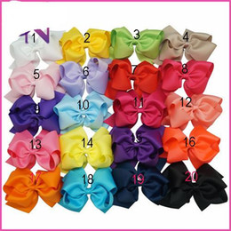 Wholesale Trade Hair Clips - Big Hair Bows Bows Clips Foreign Trade Sweet Simple Hair Decorations For Little Girls With Grossgrain Ribbon Bowknots Hair Decorations