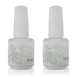 Wholesale Uv Gel Nail Polish Ido - Wholesale-IDO 15ml Soak Off UV LED Nail Gel Polish Foundation Base Coat and Top Coat Top it Off