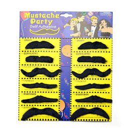 Wholesale Funny Beard Styles - mixed 21 styles Halloween Party Costume Fake Mustache Moustache Funny Fake Beard Whisker Party Costume for Adult Kids wn283