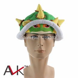 Wholesale Koopa Hat - Wholesale-Super Mario Bros Koopa Bowser Soft Plush Cap Figure Cosplay Hat Hot