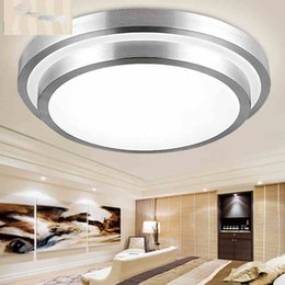 Wholesale Double Ceiling Led - Led Down Light Led Double Bedroom Light Round Living Room Lamp Ceiling Light 85-265V 12W 18W 24W 35W Led Ceiling Lamp