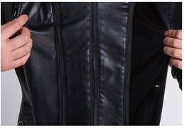 Wholesale Genuine Lamb Fur Coats - Fall-Genuine Leather Jacket Men Winter Warm Suede Fur Coat Sheep Skin Lamb Fur Trench Men Coat Zipper Blazer Plus Size