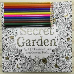 Wholesale English Books For Children - Secret Garden 96 Pages English Edition Coloring Book For Children Adult Relieve Stress Kill Time Graffiti Painting Drawing Book