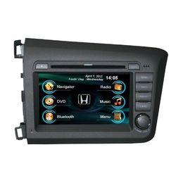 Wholesale Honda Civic Map Dvd - OEM high quality HONDA CIVIC 2012 2013 In Dash car radio GPS navigation(free map) car DVD player Ipod bluetooth Digital TV rear camera
