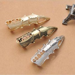 Wholesale Birds Rings - Gothic Joint Knuckle Full Finger Claw Ring Silver Bronze Birds Talon Claw Rings for Women Punk Statement Jewelry 080060