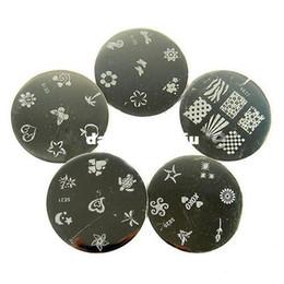 Kit di timbratura per unghie online-All'ingrosso-TV HOT professionale Nail Art Stamping polacco Nail Design fai da te Kit di manicure Kit decorazione Wholesale407