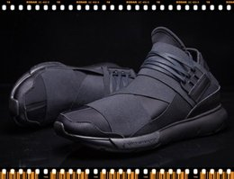 Wholesale Roman Womens - New Y-3 QASA RACER Sports Shoes High quality ALL black Shoes Boots for Mens and Womens Couples Lightweight Walking Sneaker with boxes