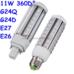 Wholesale led bulb e27 11w - led pl lamp g24q-3 base 11W 9W 7W 5W replace cfl bulb 120V 230V G24D Gx23-2 E27 E26 DHL Fedex free shipping